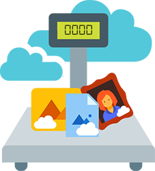 Images hosted in the cloud