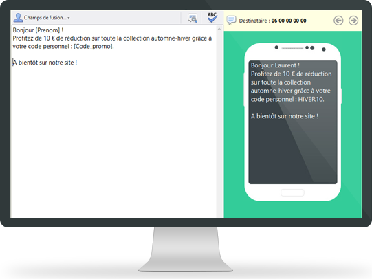 OxiSMS, an SMS editor which automatically handles long SMS